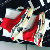 sepatu balenciaga triple s top speed trainer mirror quality