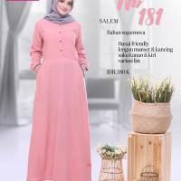 Baju Muslim Gamis Nibras NB 181 Salem