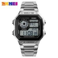 Jam Tangan Sport Kompas Anti Air SKMEI 1382 Original - Silver
