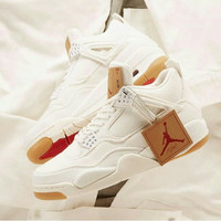 Nike Air Jordan 4 Levis white denim