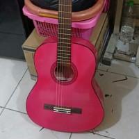 gitar klasik nilon 3/4 pink + softcase