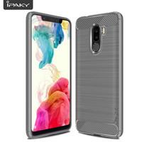 IPAKY Xiaomi Pocophone F1 - Carbon Fiber Slim Soft Case [ORIGINAL]