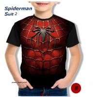 kaos anak berkualitas - super hero suit- spiderman suit 2
