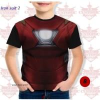 kaos anak berkualitas - super hero suit- ironman suit 2