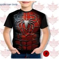 kaos anak berkualitas - super hero suit- spiderman body
