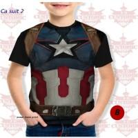 kaos anak berkualitas - super hero suit- captain america suit 2