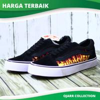 Sepatu Skate Vans Of The Wall Old Skool School Thrasher Hitam Pria