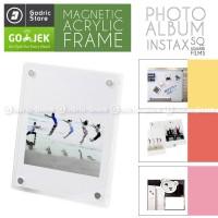 Frame Acrylic Magnet Album Kulkas Fujifilm Instax SQUARE SP3 SQ10 SQ6