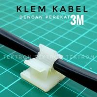 Klem Kabel dengan Perekat 3M, perapi penempel kabel di tembok, 4-8mm
