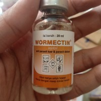 Wormectin 20ml - Demodex Obat Kutu Kucing Caplax Anjing Tungau Kelinci