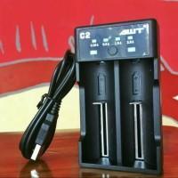 Charger AWT C2 2A USB Battery Charger vapor 18650 not nitecore vape