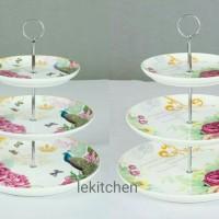 Capodimonte cake tier - piring saji 3 susun Shabby chic