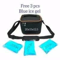 Cooler Bag Mini Free 3 pcs Blue ice Cooler Bag Tas Asi Asi Mini