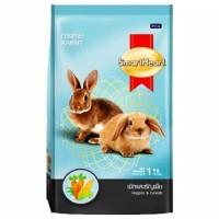 Smart Heart Rabbit Food 1 kg Rasa Veggies & Cereals Makanan Kelinci
