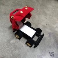 Tempat Kotak Cincin Bentuk Mobil Roda Polos Merah Bagus Murah Unik