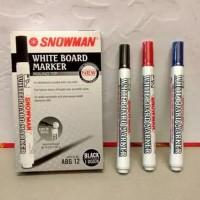 Spidol snowman whiteboard / white board marker papan tulis ABG-12