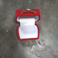 Tempat Cincin Perhiasan Kotak Bentuk Tas Kecil Lucu Murah Polos Merah