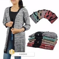Atasan Wanita Modis Sweater Rajut Kimono Roundhand Baju Rajut Cewek