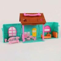 Mainan Rumah rumahan Villaku Lengkap Dgn Perabot Miniatur Murah Meriah