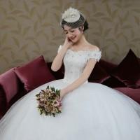 Gaun Pengantin 1809003 Putih Sabrina Wedding Gown