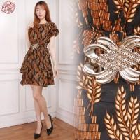 Dress Midi Batik Miysh Short Dress Wanita