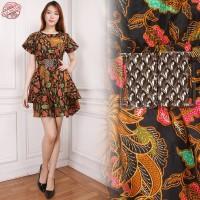 Dress Midi Batik Ariana Grande Short Dress Wanita