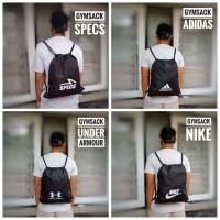 Gymsack Drawstring Tas Serut Tas (Nike , Underarmour & Adidas)