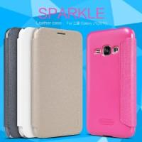 Samsung Galaxy J1 2016 Flip Case - Nillkin Sparkle Leather Case Series