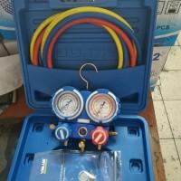 Testing Manifold ac double R22 Value + Box + selang