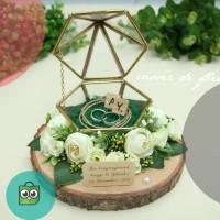 Ring bearer ring box kotak cincin lamaran sangjit rustic terrarium no