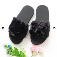 KIRARO Sandal Sendal Spons Selop Rumah Korea Bulu Rasfur Santai Murah