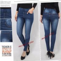 celana legging jeans wanita kwalitas premium - Navy, 27