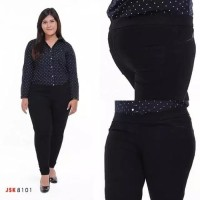 Size 35 -42 Celana Legging wanita Jeans Pinggang Karet 4 Warna