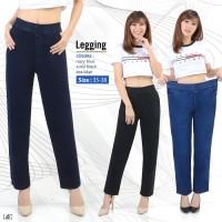 Celana Panjang Legging Super Jumbo Jeans Pants GIrl Wanita Women Denim