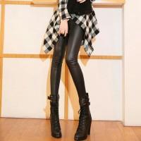 celana legging kulit thermal wanita ukuran besar / big size