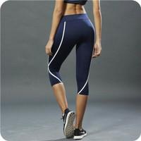 Celana Legging Sport 3/4 Gym Yoga Senam Fitness Olahraga Wanita
