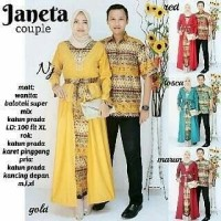 Baju Batik Couple Kebaya Batik Janeta Set Rok panjang Hem Kemeja