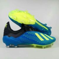 sepatu bola Adidas X 18.1 Blue Black FG