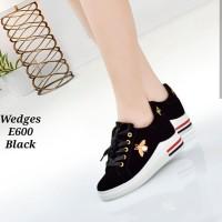 Sepatu Kets Wanita Casual Lebah Coklat dan Hitam SK110