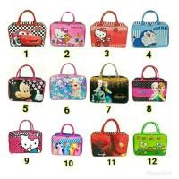 Tas Travel Bag Koper Kanvas Piknik Renang Besar motif Anak