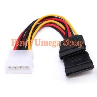Adapter Kabel Power 4-Pin Molex IDE ke 15-Pin 2 SATA Hard Drive