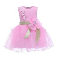 GA2597 FINELLA DRESS PINK .. dress anak pesta gaun birthday ultah