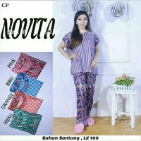 Setelan celana panjang / baju tidur murah/ babydoll / batik pekalonga