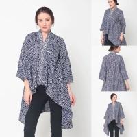 Baju Blouse Atasan Batik Wanita Modern Nona Rara, Elena Blouse T0239