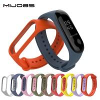 Original Mijobs Solid Strap for Smart Watch Xiaomi Mi Band 4 Tali Jam