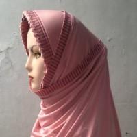 Pasmina Instan Spandek Jilbab Instan Spandex Polos Rajut