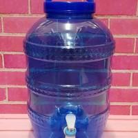 Galon + Keran Pet 8 Liter Dispenser Tempat Air Minum Galon Mini 8 L