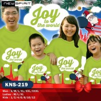 New Spirit Kaos Couple keluarga Natal - Joy To The World (Hijau)