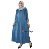 Berry maxy dress / Gamis jeans