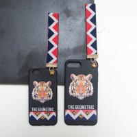 Soft Case Iphone with strap Black Tiger 6/6S, 6/6S Plus, 7&7+
